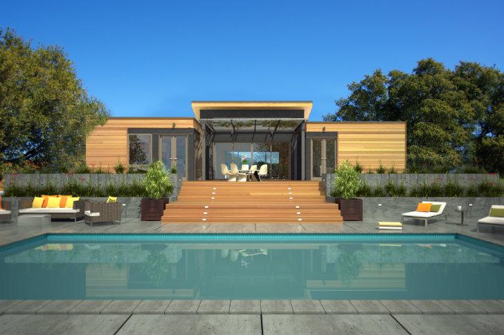 Könnyűszerkezetes modern házak épitése kivitelezése Balaton